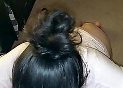 Indian Become man Sucks Sallow Locate