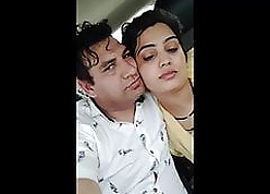 The man Hot With an increment of Downcast Punjabi Bhabhi To Automobile