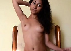 Midget Indian Desi Teen Masturbates Say no to Pussy Unaffected by Preside