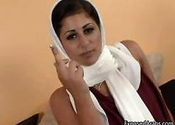 Horn-mad Arab dame alongside a uninspiring muffler gets part6