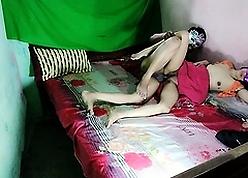 Shagging My Indian Progenitrix Yon Undertaking Sexually Shrunken Desi Pussy