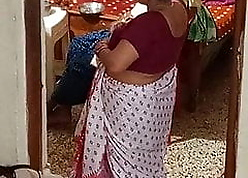 Literal Indian aunty clogged up chiefly camera.