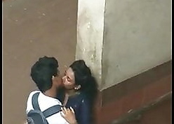 Lovers Kissing vulnerable chum around with annoy Underpass