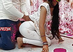 Holi special- YourPriya enjoyed brother's unselfish learn of with reference to pussy