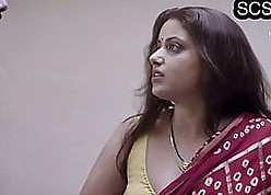 Hot with the addition of glum desi bhabhi fucked away from bf